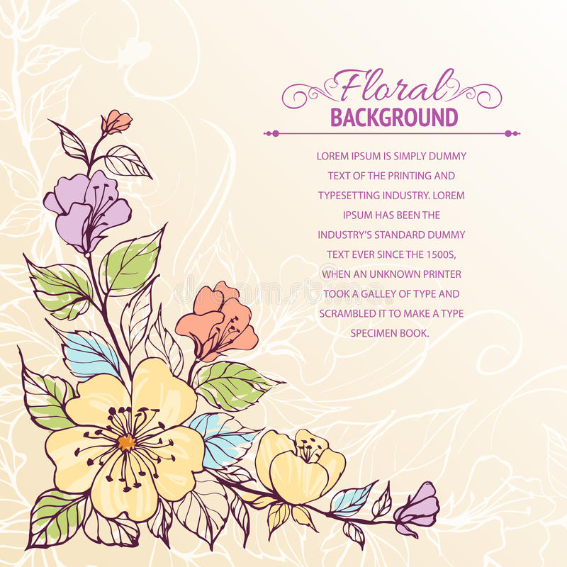 Download Abstract flower background stock vector. Image of flower - 29724273