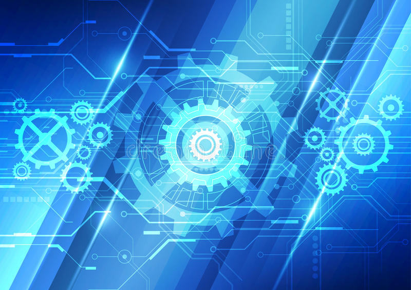Technology Abstract Background Stock Illustration