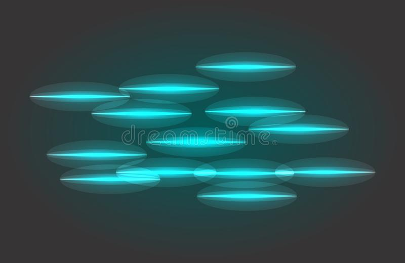 Abstract vector glowing magic star light effect from the neon blur of curved lines. Glittering stars dust trail from the. Side.flying comet on a transparent stock illustration