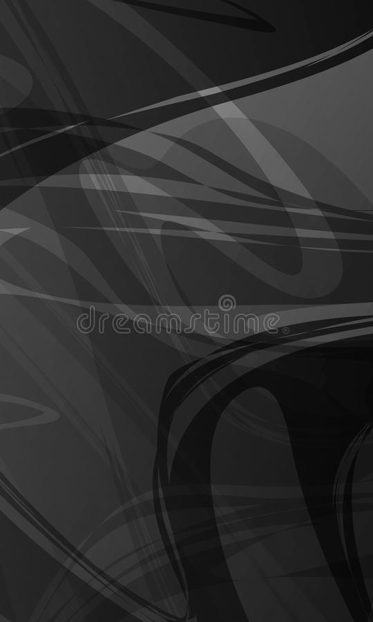 Abstract vector grey scale shaded wavy background,wallpaper, vector illustration royalty free illustration