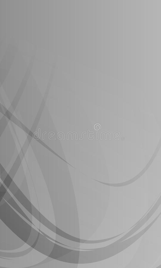 Abstract vector grey scale shaded wavy background,wallpaper, vector illustration stock illustration