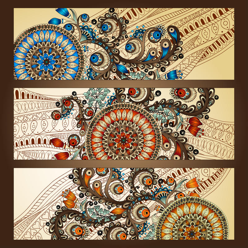 Creative Business Banner Background With Batik Pattern