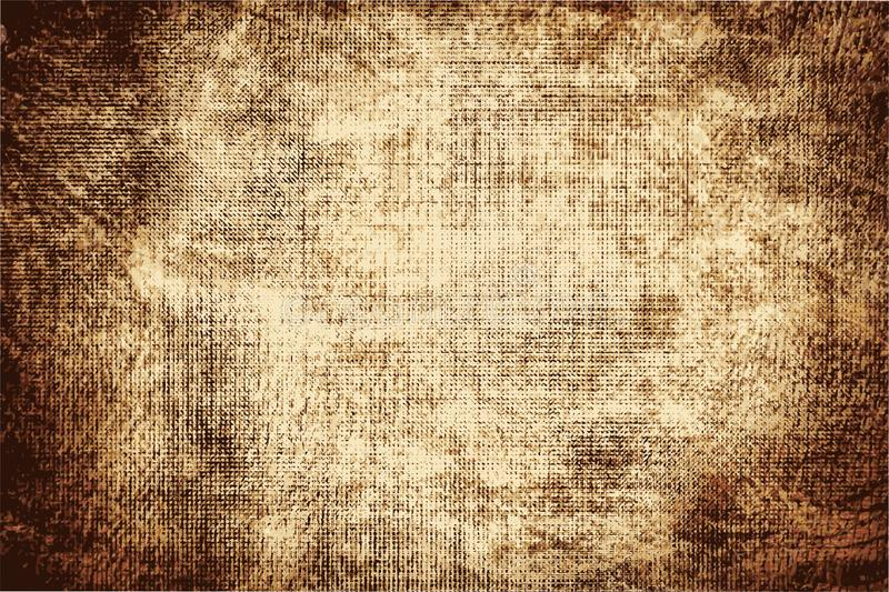 The texture of the old paper darkened by time. Abstract vector illustration. Faded middle. Patina on an edges. Stains, stripes and scuffs in a grunge style vector illustration