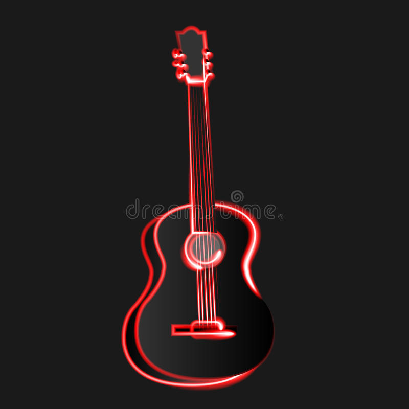 Abstract Vector illustration guitar music vector illustration