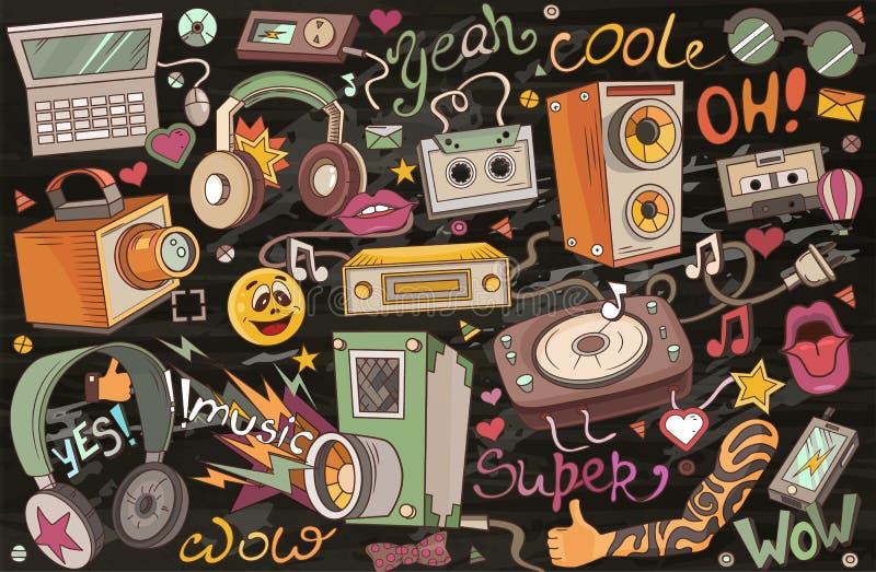 Abstract vector illustration of music vector illustration
