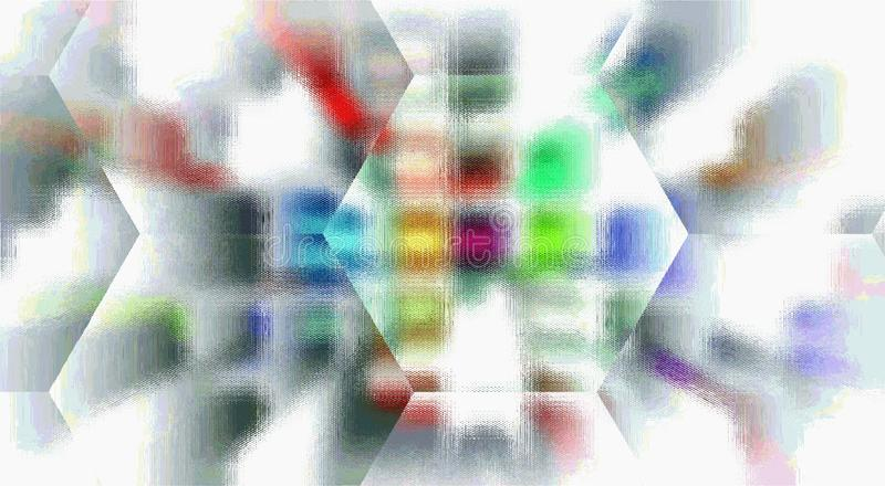 Blurred checkered colorful background. Oil paint effect. royalty free illustration
