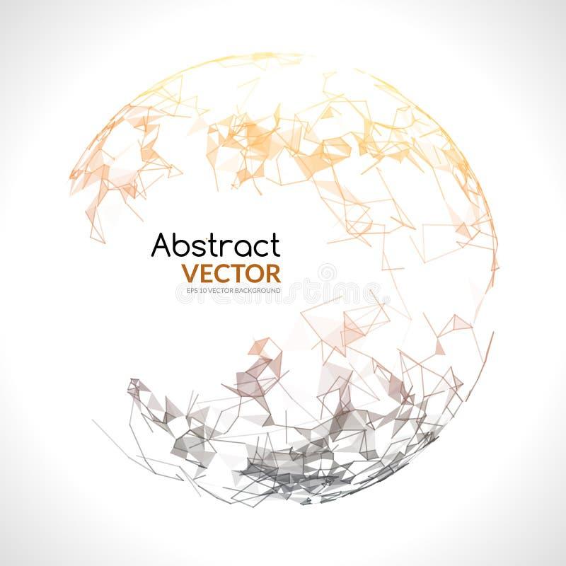 Abstract vector kleurrijk gebied Futuristische technostijl In achtergrond voor bedrijfspresentaties Vliegende driehoeken vector illustratie