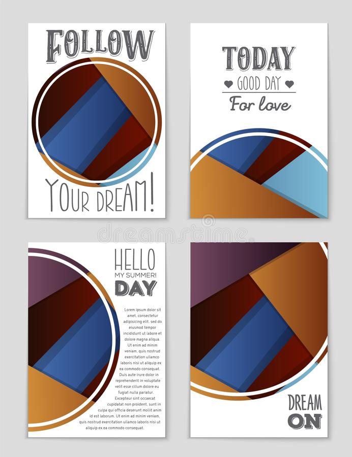 Abstract vector layout background set. For art template design, list, page, mockup brochure theme style, banner, idea. Cover, booklet, print, flyer, book blank vector illustration
