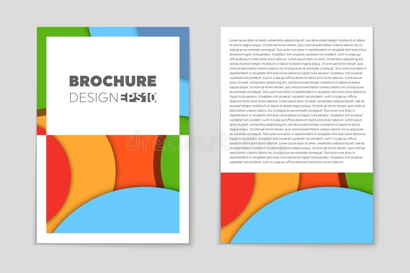 Abstract vector layout background for web and mobile app, art template design, list, page, mockup brochure theme style. Banner, idea, cover, booklet, print royalty free illustration