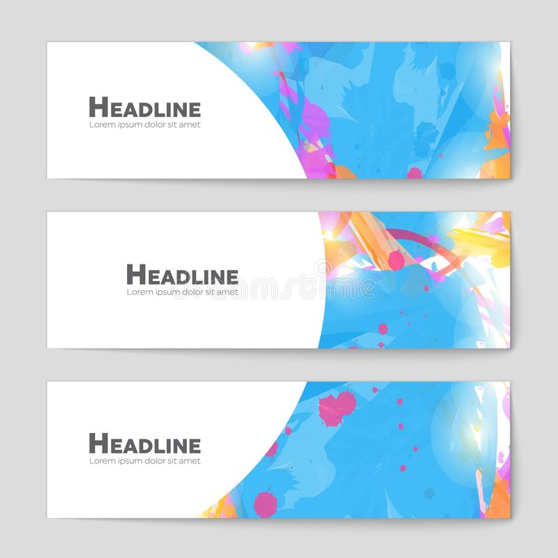 Abstract vector layout background for web and mobile app, art template design, list, page, mockup brochure theme style. Abstract vector layout background set vector illustration