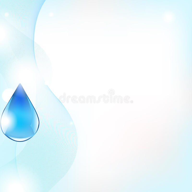 Abstract Vector Line And Blue Water Drop vector illustration