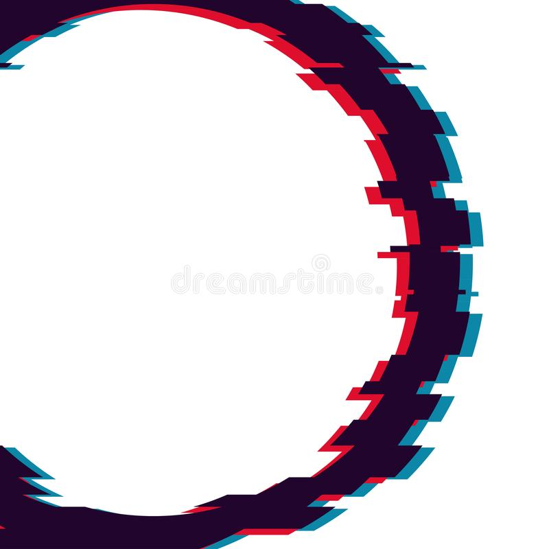 Image with glitch effect. Abstract vector in modern distorted glitch style royalty free illustration
