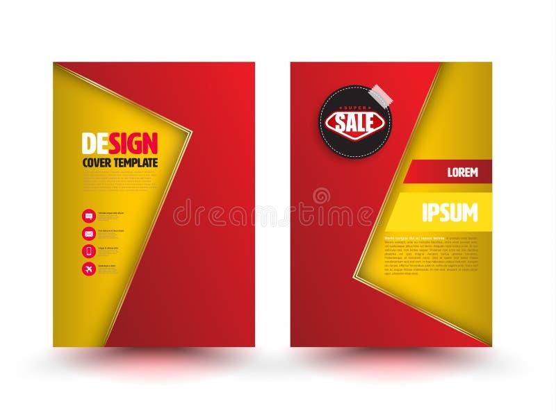 Abstract vector modern flyer brochure design templates. stock illustration