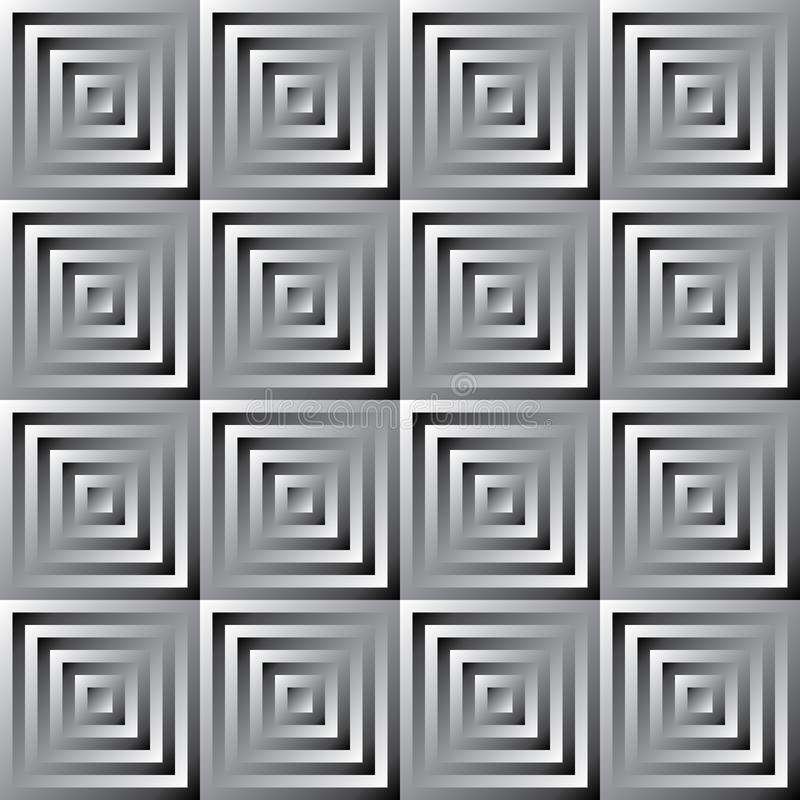 Abstract Vector Monochrome Squares Pattern Royalty Free Stock Images