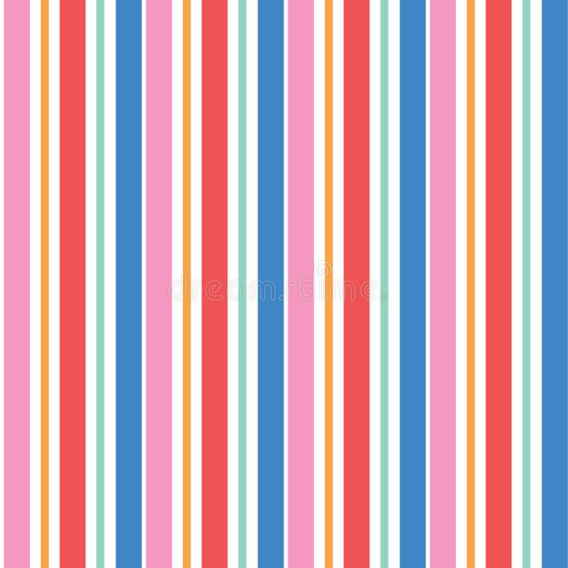 Abstract vector multicolor geometric seamless vector pattern. Vibrant vertical stripes on white background. Wrapping paper. Print vector illustration
