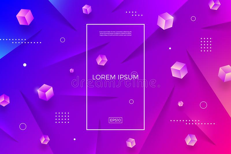 Abstract multicolored background with cubes. Vector illustration. Multipurpose design can be used as cover, poster, flyer vector illustration