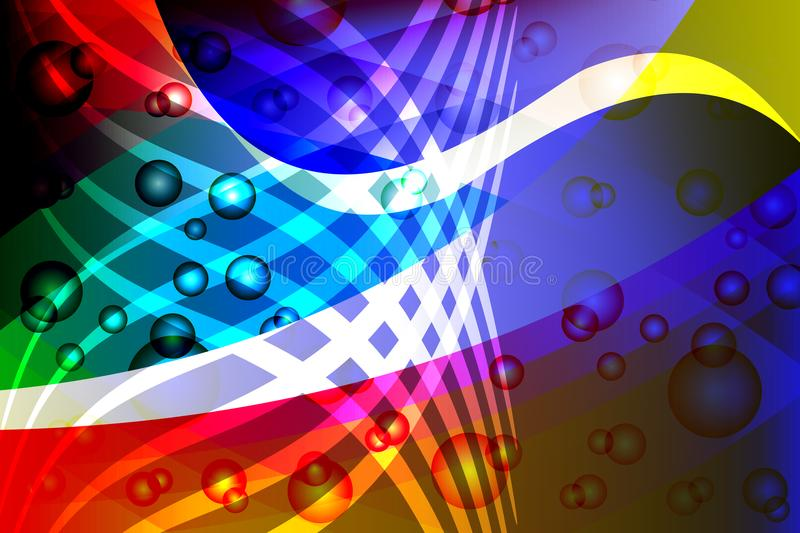 Abstract vector multicolored wavy shaded background with bright colors lighting effects, vector illustration stock illustration
