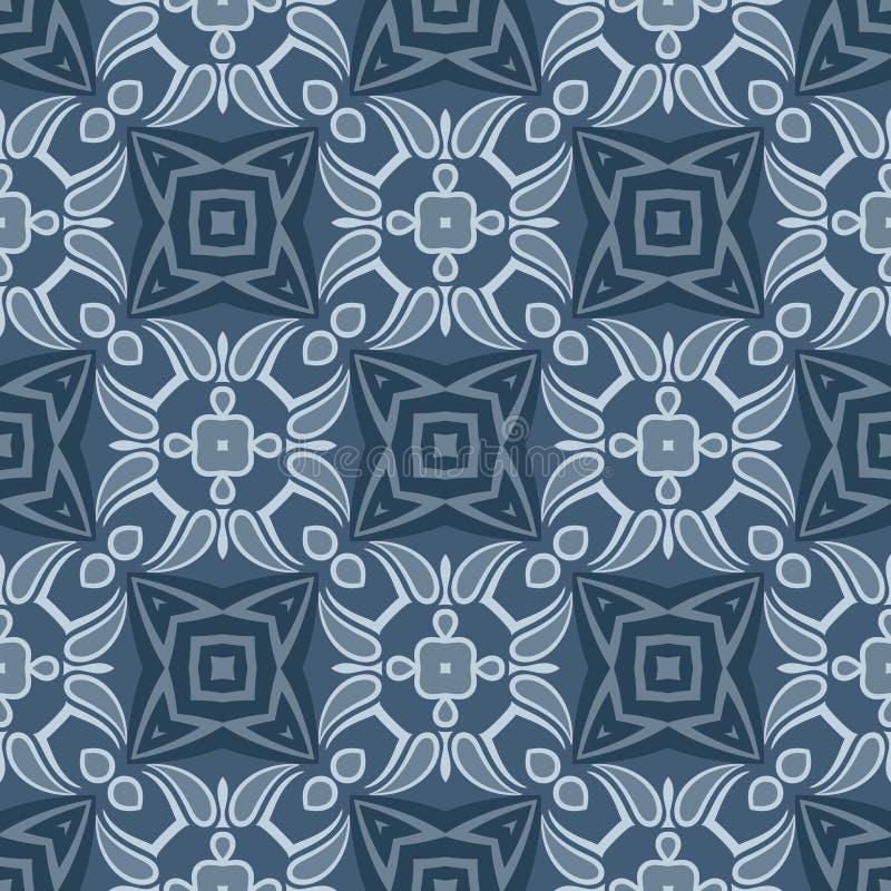 Abstract Vector Naadloos Meetkunde Donkerblauw Patroon royalty-vrije illustratie