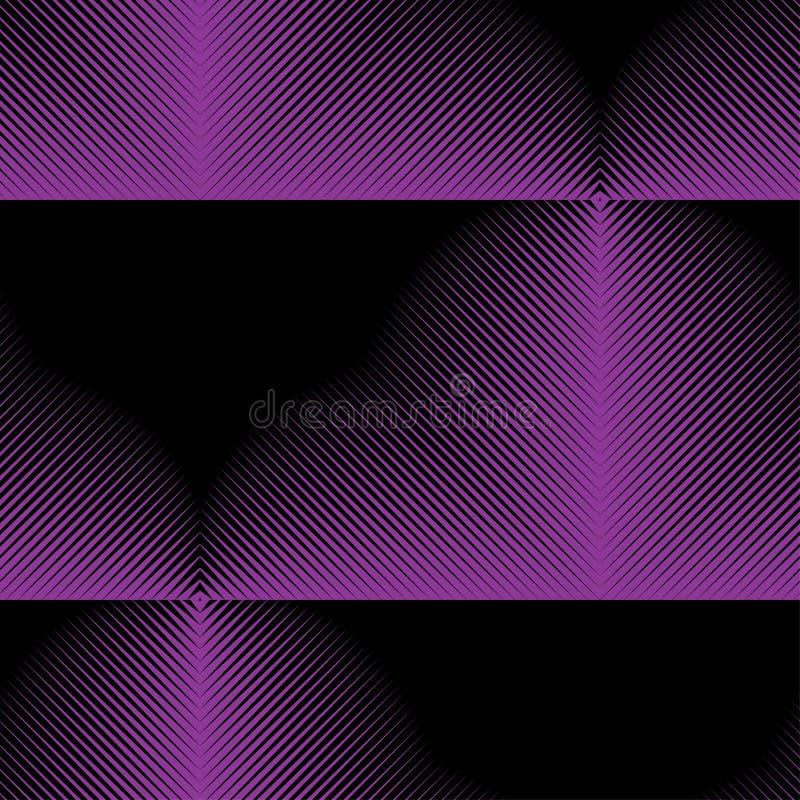 Abstract vector naadloos moirépatroon met kubiek roosterlijnen Duotone grafisch ornament royalty-vrije illustratie