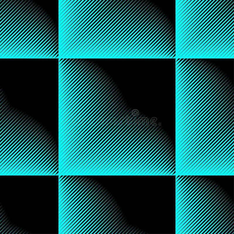 Abstract vector naadloos moirépatroon met kubiek roosterlijnen Duotone grafisch ornament vector illustratie