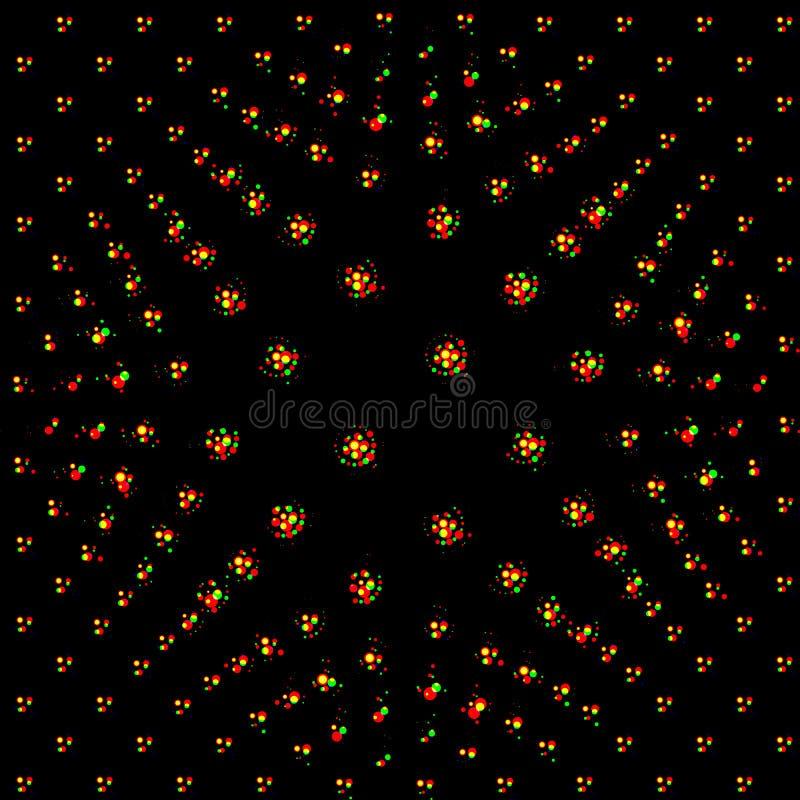 Abstract vector naadloos op kunstpatroon Kleurrijk pop-art, grafiek stock illustratie