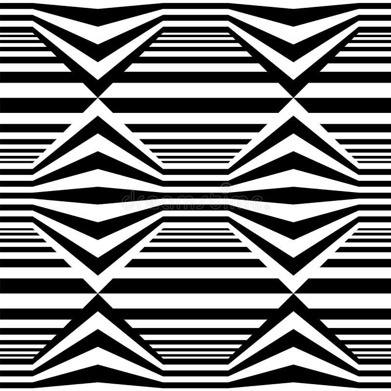 Abstract vector naadloos op kunstpatroon Zwart-wit grafisch zwart-wit ornament stock illustratie