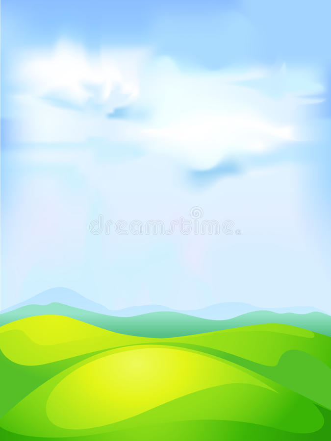 Abstract vector natural background with meadow stock illustration