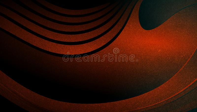 Abstract vector orange shaded wavy background wallpaper. vivid color vector illustration. stock illustration