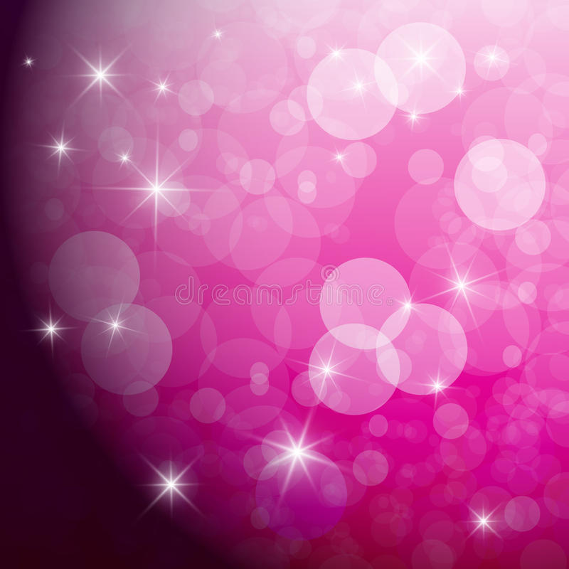 Abstract Vector Pink Background. With Blurred Circles stock illustration