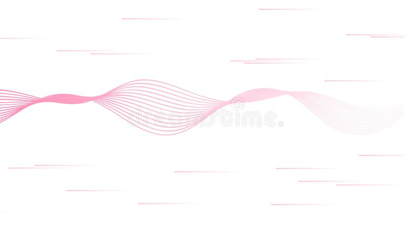 Abstract vector with pink sound wave lines isolated on white background. Feminine design for women right movement. girl power and. Feminism royalty free illustration
