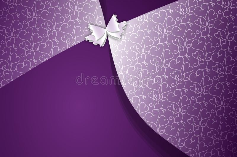 Abstract vector purple ethnic background depicting celebration vector illustration