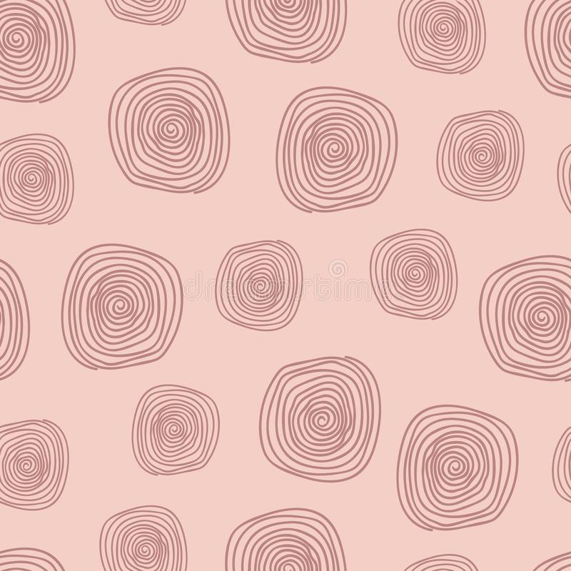Pink abstract vector repeat pattern with spirals stock photography