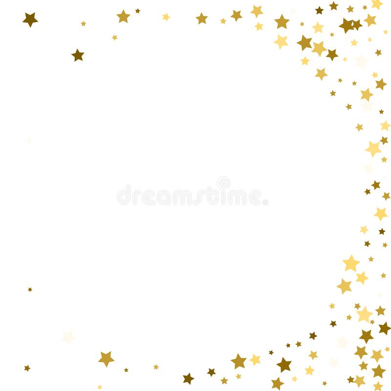 Abstract vector round background with gold star elements. Glitte royalty free illustration
