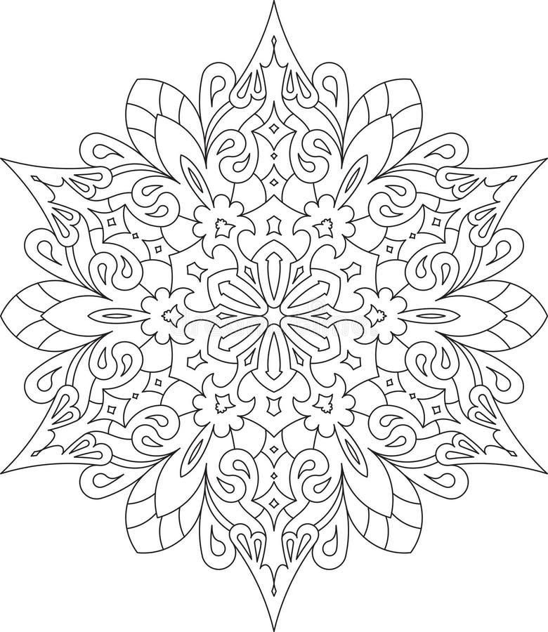 Abstract vector round lace design - mandala, decorative element.  stock illustration