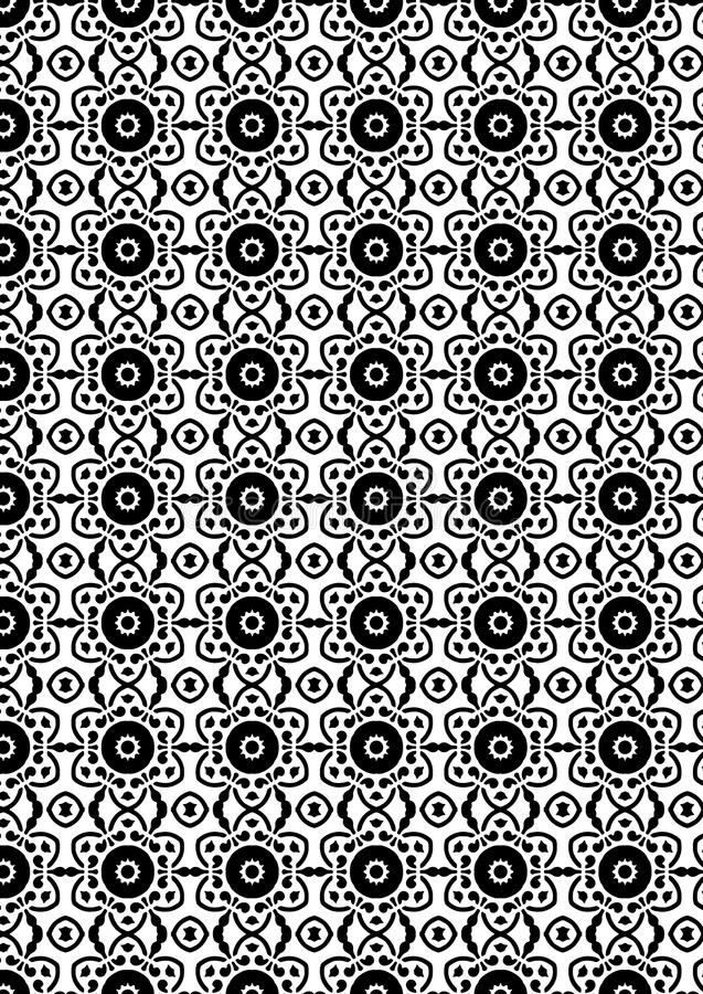 Abstract Vector Seamless geometric pattern Black and white royalty free stock image