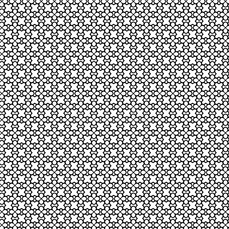 Abstract Vector Seamless geometric pattern Black and white royalty free stock photography