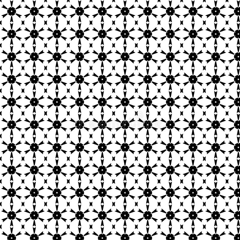 Abstract Vector Seamless geometric pattern Black and white stock photo