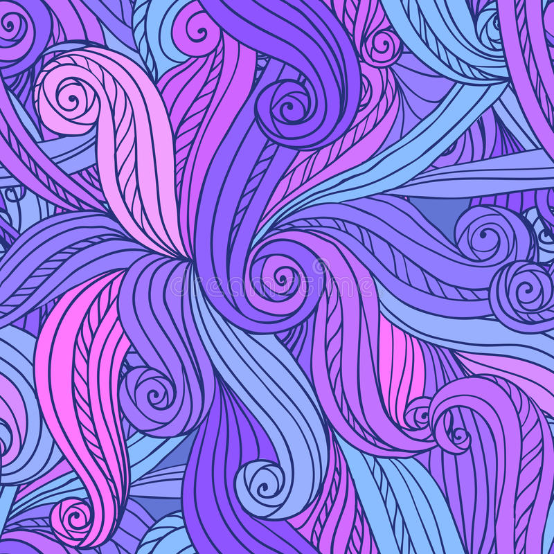 Abstract vector seamless hand-drawn pattern stock photo