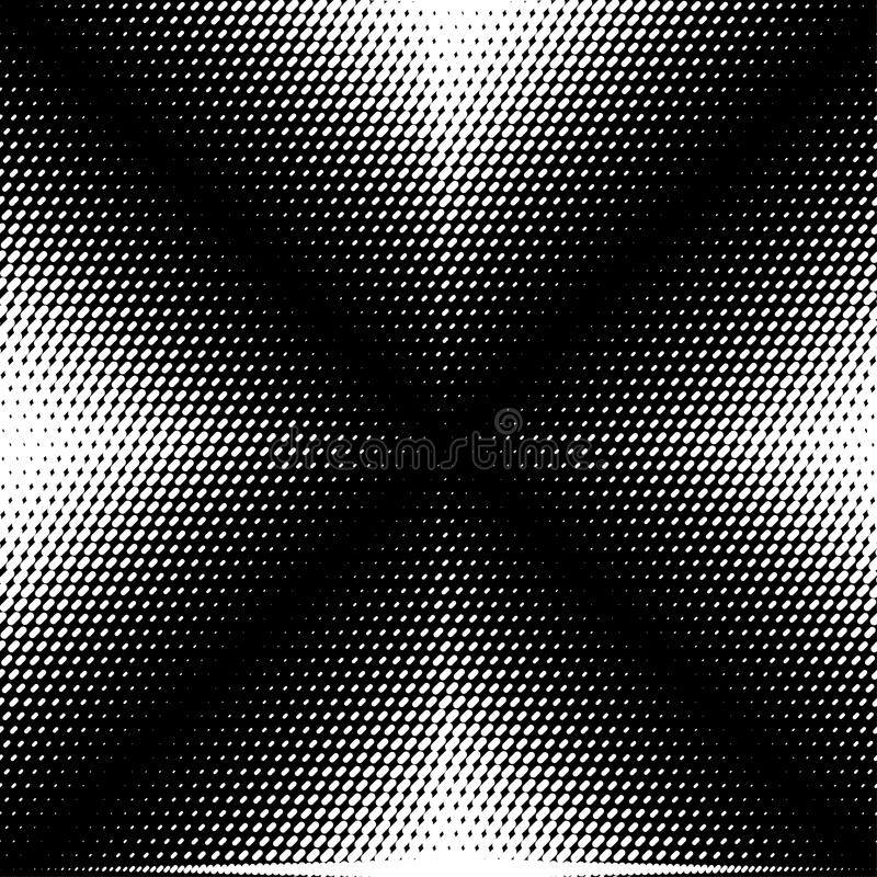 Abstract vector seamless op art pattern. Monochrome graphic black and white ornament. Striped optical illusion repeating texture.  royalty free illustration