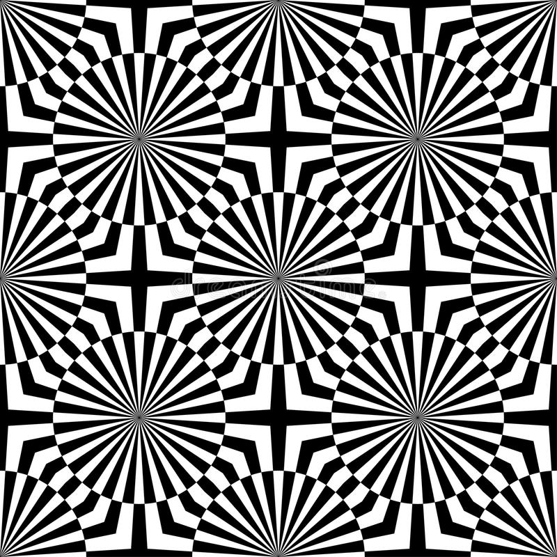 Download abstract vector seamless op art pattern monochrome graphic black and white ornament striped