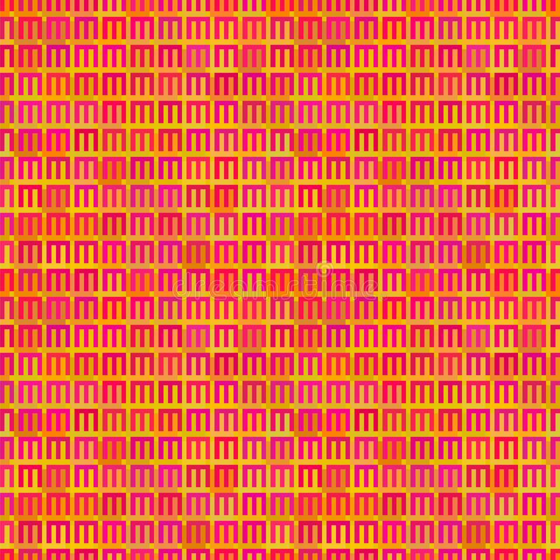 Abstract vector seamless pattern of bright varied. Colors. This is file of EPS10 format royalty free illustration