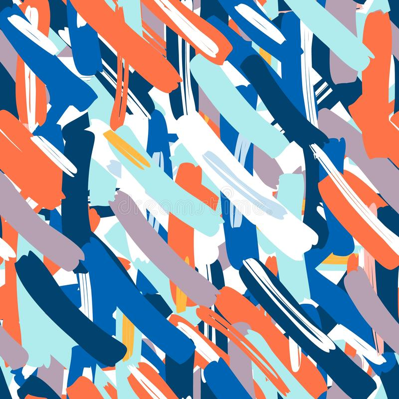Abstract vector seamless pattern. Creative background with geometric figures. royalty free illustration