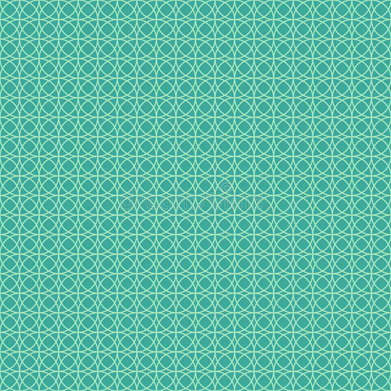 Abstract vector seamless pattern. Endless texture can be used for printing onto textile and paper or scrap booking. Turquoise and white style pattern with royalty free illustration