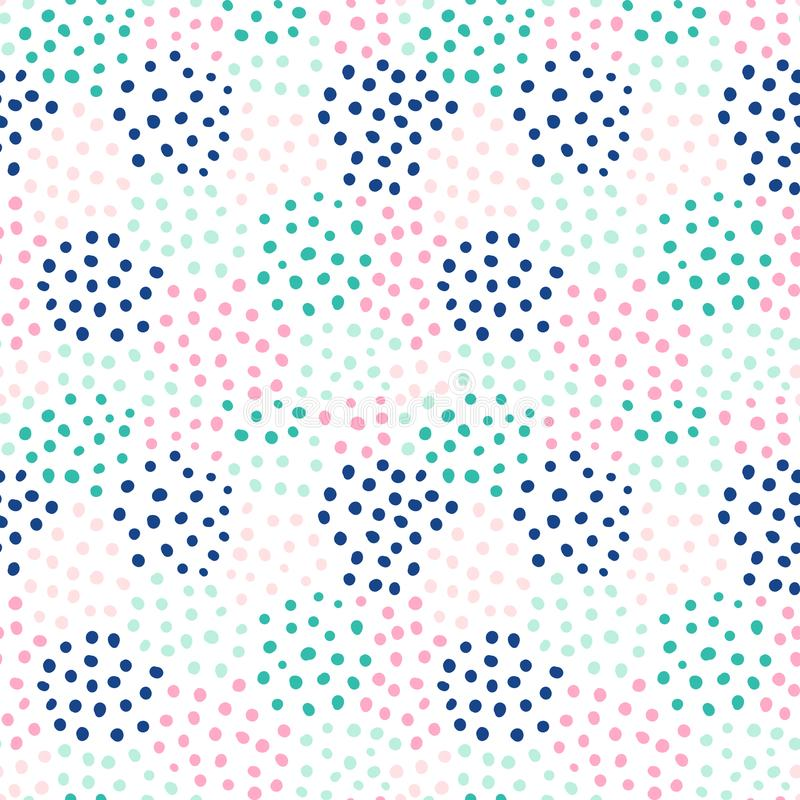 Abstract vector seamless pattern with hand drawnd round shapes vector illustration