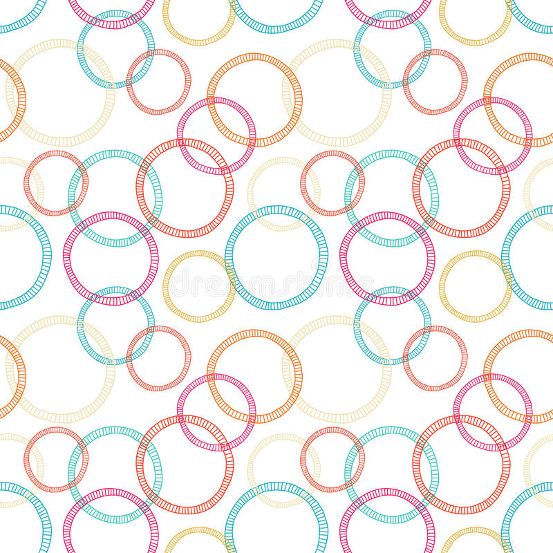 Abstract seamless pattern with circles stock illustration