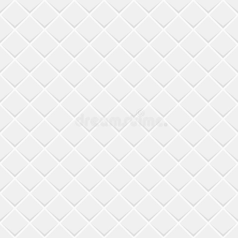 Abstract vector seamless pattern of repeating rhombuses tiles. Flat design. White and gray modern stylish geometric texture. royalty free illustration