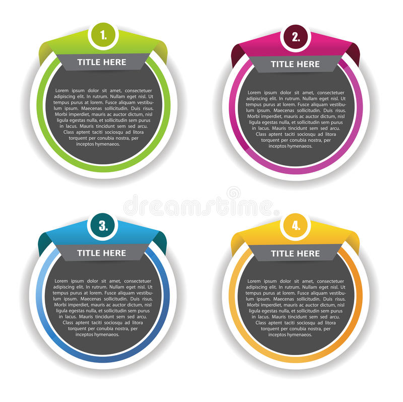 Abstract vector set of four banners background stock illustration