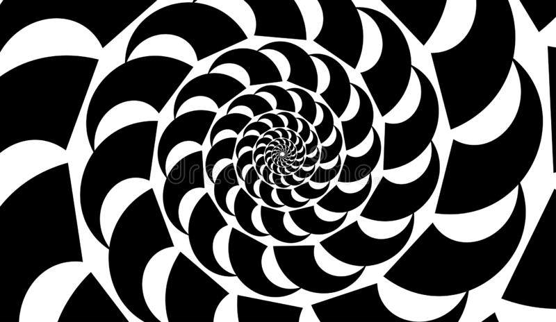 Abstract vector shell. Spiral shape, shell. Design element on white background.  stock illustration