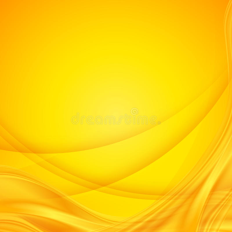 Abstract vector shining yellow wavy background royalty free illustration
