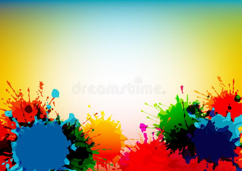 Abstract vector splatter colorful background design. illustration vector design. Abstract vector splatter colorful design background design. illustration vector royalty free illustration